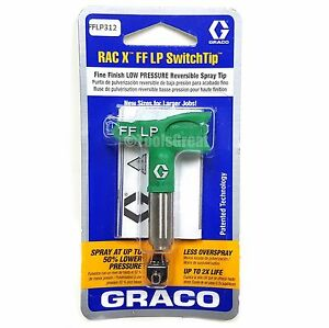Graco Rac X Fflp 312 Fine Finish Paint Spray Tip Size 312