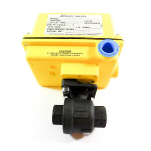 Sharpe Valves Electric Ball Valve Actuated 3 8 115vac Seaiirx