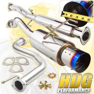 94 01 Acura Integra Gsr Sedan Hatchback Jdm N1 Catback Exhaust Muffler Burn Tip