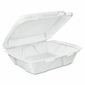 Dart Carryout Food Containers White Foam 7 4 5 X 8 1 2 X 2 1 2 Dccdt1r