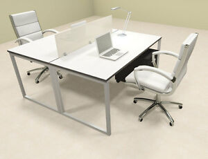Two Person Modern Acrylic Divider Office Workstation al opn fp19