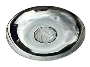 1904 2 Frank Belgian Leopold Ii Koning Coin Inset Sterling Silver Pin Nut Dish
