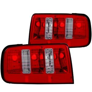 Anzo Chrome Red Altezza Tail Lights Fits 2005 2009 Ford Mustang