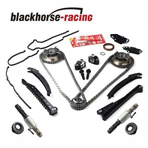 Timing Chain Kits Cam Phaser Cover Gasket solenoid 04 08 For Ford Lincoln 5 4 3v