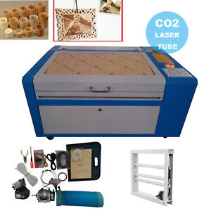 50w Usb Co2 Laser Engraving Engraver Cutting Machine 300x500mm W Rotary Axis