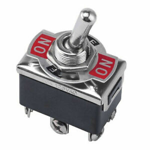 3 pin Position On off on Spring Return Momentary Metal Toggle Switch 15a 250v Ac