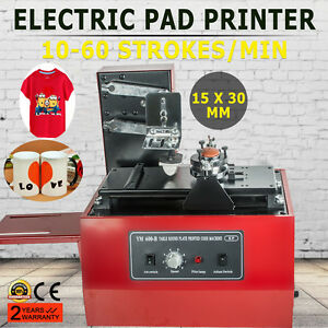 usa electric Pad Printer Printing Machine T shirt Oil Ink Ball Pen Trademarks