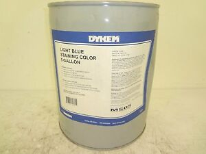 Dykem 18255 Light Blue Stain 5 Gallon Pail