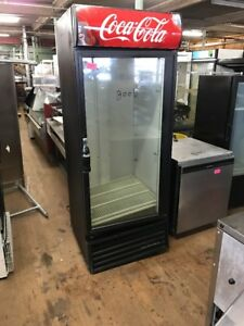 True Gdm 26 Used Single Door Refrigerator Glass Merchandiser Coca Cola Used Cool