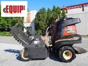 2008 Ditch Witch R150 Trencher Honda Engine Articulating