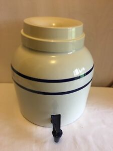 Vintage Mtn Corp Stoneware Crock Water Cooler Dispenser Dated May 4 1963