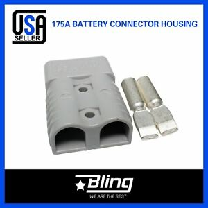 4x Gray 175amp 600v Battery Plug 8x Terminals Connector Dc Power Caravan Kit