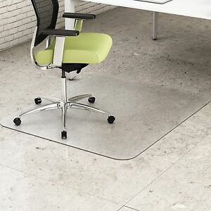 Deflect o Recycled Chairmat Hard Floor Rectangular 45 x53 Clear Cm2g242pet