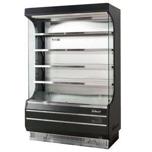 Turbo Air Tom 50b Black Vertical Open Display Case Cooler Full Height Brand New