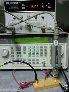 Hp Rf Amplifier 0 5 1300mhz 40db Gain 100mw Out New Old Stock With Detector Out