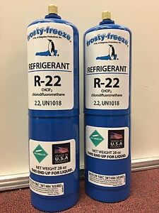 R22 Refrigerant R 22 Air Conditioner 2 Large 28 Oz Cans No Can Taper Needed