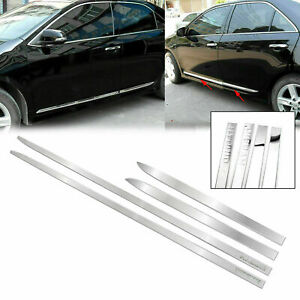 For Toyota Camry 2018 2019 4pcs Chrome Side Door Body Molding Trim Protector