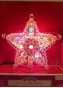 7.5quot; Holiday Time Iridescent Lighted Star of Bethlehem Christmas Tree Topper