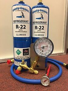 R22 Refrigerant R 22 Air Conditioner 2 28 Oz Cans Large Recharge Kit