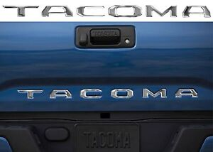 Chrome Tacoma Tailgate Letter Inserts For 2016 2019 Toyota Tacoma New Free Ship