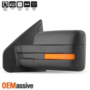 Fit 2007 2014 Ford F150 Power Heated Puddle Led Signal Driver Left Side Mirror