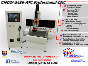 Cnc Warehouse professional Router engraver 3d Carver Model Cncw 2436 atc