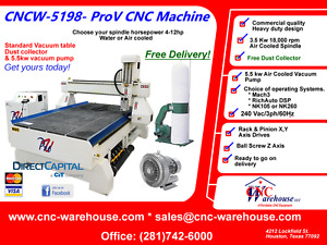Cnc Warehouse Cnc Router engraver 3d Carver Model Cncw 5198 prov 4 X 8 table