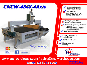 Cnc Warehouse Cnc Router engraver 3d Carver Model Cncw 4848 with Rotary