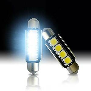 2 Led White 4smd Error Free Map Dome Interior Lights Bulbs 42mm Festoon