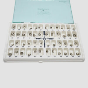 Dental Preformed Crown Stainless Steel Crown Primary Molar Crown For Kids 48pcs