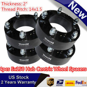 4pc Black 2 For Toyota Tundra 5x150 Hub Centric Wheel Spacers Adapters Us Stock