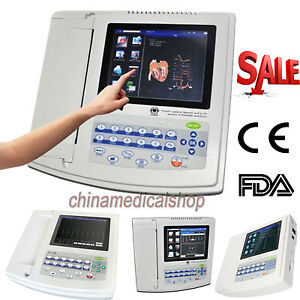 Us Touch Screen Electrocardiograph Ecg ekg 12 Channel lead Cardiograph Ecg1200g