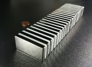 10 ten Large Neodymium N52 Block Magnets Strong Rare Earth 2 X 1 X 1 4