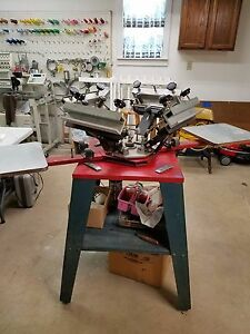 Atlas 4 Color 2 Station Screen Printer
