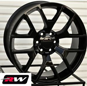 20 Inch Chevy Tahoe Gloss Black Wheels 20x9 Gmc Sierra 2014 2015 Rims 6x139 7