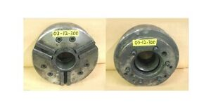12 3 Jaw Power Chuck A 8 Spindle Mount 3 1 2 Thru Hole Model H12 93