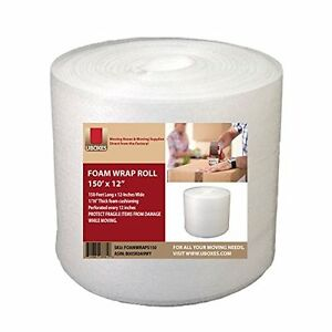 Foam Wrap Roll 150 X 12 Inch Protect Fragile Items Shipping Moving Packaging
