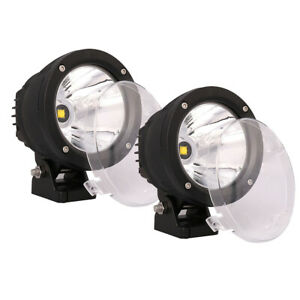 4x 4inch 25w Round Led Work Light Spot Driving Fog Lamp For Offroad Jeep Suv 4wd