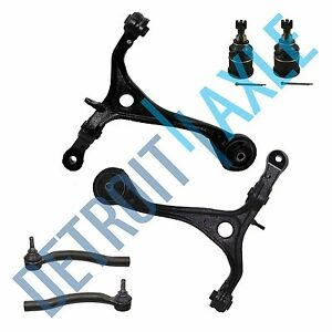 Acura Tsx Honda Accord 6pc Front Lower Control Arm Ball Joint Outer Tie Rod Kit