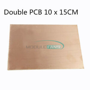 1 5 10pcs 1 5mm Thickness Double Pcb Copper Clad Laminate Board 10 15cm Fr4