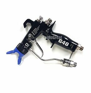 New Graco 24c855 Hvlp G40 Air Assisted Spray Gun With No Tip