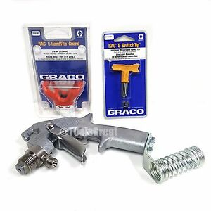 New Graco 248157 Flex Plus Striping Gun With Ll5319 Tip 243161 Rac 5 Tip Guard