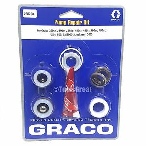 Graco 390st 390sts 395st 450st 455st 490st Pump Packing Repair Kit 235703