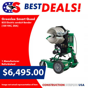 Greenlee Smart Quad 855 Electric Conduit Bender 120 Vac 20a