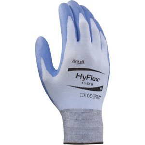 6 Pair Ansell Hyflex 11 518 Cut Resistant Glove Size 11