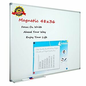 Magnetic Dry Erase Board Whiteboard 36 X 48 Aluminum Frame Marker Tray Writing