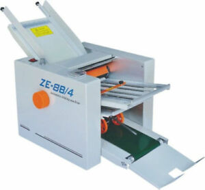 Brand New Automatic Paper Folding Machine Paper Folder Machine Ze 8b 4 4 Fold Pl