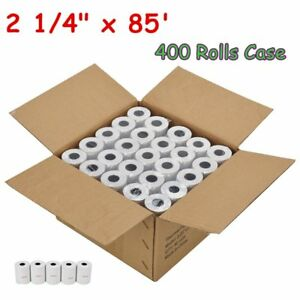 400 Rolls Case 2 1 4 X 85 Thermal Cash Register Credit Card Pos Receipt Paper