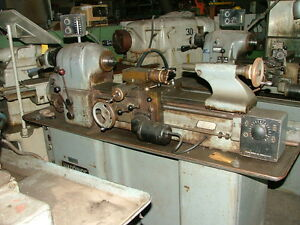 Hardinge Hlvh Lathe Threading Dove Tail Bed Vari Speed Powerfeed Tailstock
