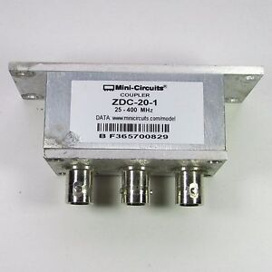 Used Good Mini circuits Zdc 20 1 25 400mhz 20db Bnc Directional Coupler